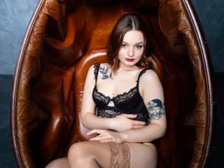 Foto de perfil sexi, da modelo BillieApple, para um live show webcam muito quente!