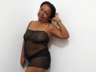 Sexet profilfoto af model brunettemadure, til meget hot live show webcam!