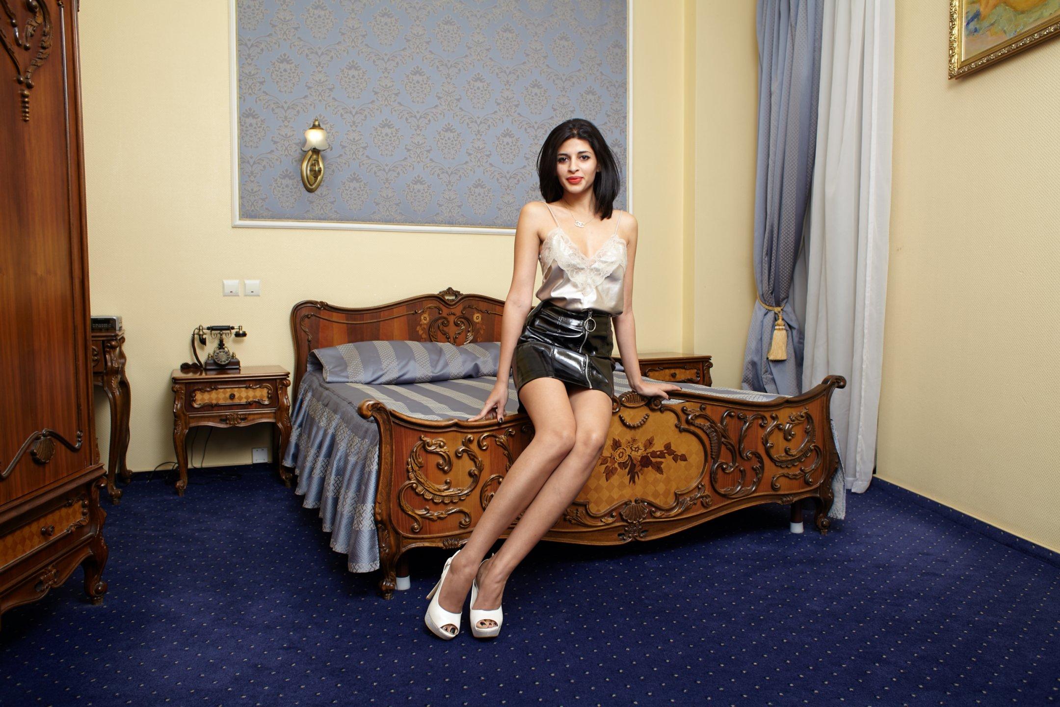 Fransk sekretær blowjob