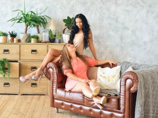 NikaXRysa - Chat cam exciting with a black hair Lesbo