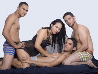 GroupSexLovers - Webcam live x with this charcoal hair Group of four
