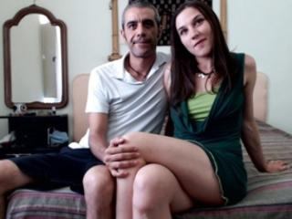 SexyPornyCp - Live cam x with a trimmed genital area Female and male couple