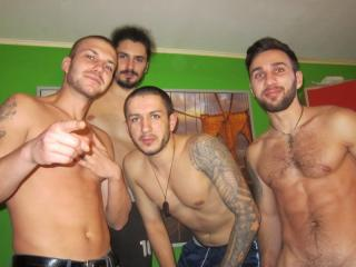 Picture of the sexy profile of FourHornyDudes, for a very hot webcam live show !