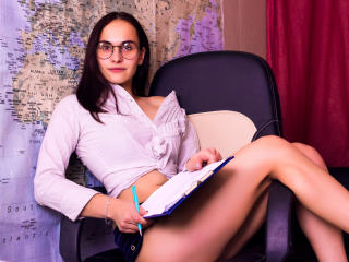 Picture of the sexy profile of HemeraX, for a very hot webcam live show !