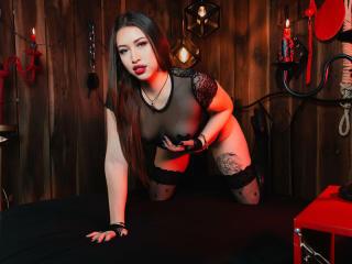 Foto de perfil sexy da modelo KimSublime, para um live show muito quente!