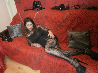 Foto de perfil sexy da modelo MisstressViva, para um live show muito quente!